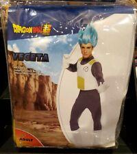 Dragon Ball Super Saiyan Blue Vegeta Adult Costume Wig Gloves Halloween Cosplay