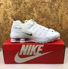 best service 9fa12 a1db2 Nike Shox NZ EU Size 11.5 Leather Running Shoes Sneakers White Black