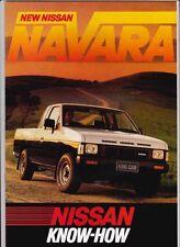 1986 NISSAN NAVARA Range Australian Brochure PICKUP KING CAB DUAL CAB 4x2 4x4