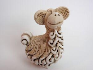 "Artesania Rinconada Vicuna Llama #68 Baby Uruguay Art Pottery Figurine 3"""
