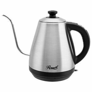 Gooseneck Electric Kettle Temperature Control Stainless Steel Pour Over Coffee