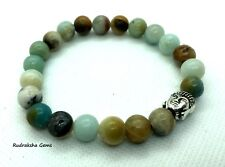 Amazonite Beaded Bracelet Natural Healing Stones Handmade Jewellery Heart Chakra