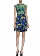 Missoni Cap Sleeve Zebra Jacquard Dress,Multicolor