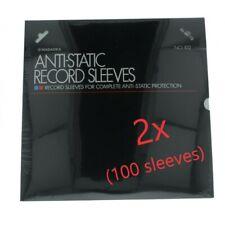 Nagaoka  Anti-Static Record Sleeves: 2x Pack of 50 (100 sleeves)