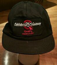 Quality Farm & Fleet Snapback Cap Trucker Hat/25th Anniversary Patch/fishing
