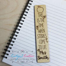 Personalised Teacher /Teaching Assistant Bookmark - End of Term Leaving Present