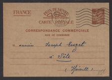 Carte Interzone 0,90 Iris « Correspondance Commerciale » deBEAUNE Oblt PARIS RP