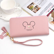 Womens Mickey Leather Large Wallet Purse Clutch Card Phone Holder Handbags Bags