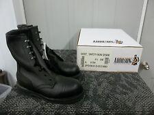 ADDISON MEN BOOT BLACK SAFETY SHOE STEELTOE SIZE 4.5 4 1/2 XW WIDE WORK NEW