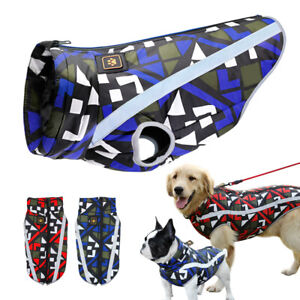 Reflective Small Large Dogs Winter Clothes Waterproof Big Dog Warm Jacket Coat