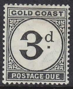 GOLD COAST SG D6 1951 3d BLACK POSTAGE DUE MOUNTED MINT