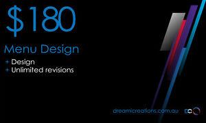 Menu Design | Custom Design