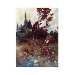 Princess Vintage Art Print Wall Decor Poster Edmund Dulac Fairy Victorian A3