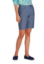 Lands' End  Women's Mid Rise 10″ Chambray Bermuda Shorts BNWT Size UK 12