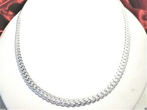 """womens 6mm Miami Cuban chain necklace 18"""" 925 sterling silver"""