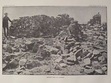 Wall Pueblo Kia kima Thunder Mountain New Mexico 1891 Print