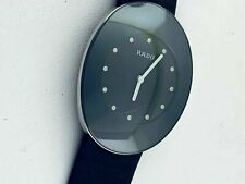 Rado eSenza 964.0490.3 Black Dial Leather Strap Swiss Quartz Dress Men's Watch