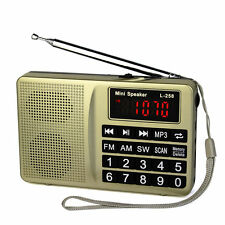 TOP Portable FM/AM/SW Radio Bass Sound MP3 Player Multimedia Speaker All/One New