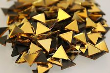 MOSAICO Triangolare Oro Specchio Piastrelle (circa - 10mm) 1.4 mm di spessore, 100 PZ
