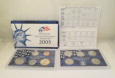 2005 United States Mint Proof Set & 5 Fifty State Quarters with COA        RB1