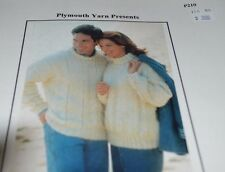 """Plymouth Knitting Pattern P210 Uni-sex Pullover 43-51"""""""
