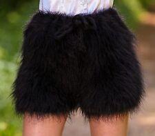 SUPERTANYA BLACK Hand Knitted Mohair Pants Fuzzy Underwear Handmade Soft Shorts
