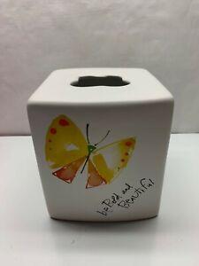 Creative Bath Kathy Davis Scatter Joy Flutterby tissue cover butterflies ceramic