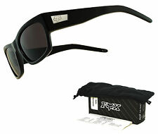 Fox The Heretic Sunglasses by Oakley Polished Black Frame Warm Grey Lens Sample