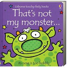 Usborne Touchy Feely Books Thats Not My Monster (bb) by Fiona Watt NEW