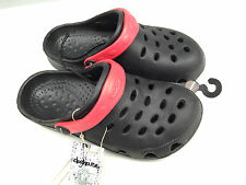 BNWT Little Boys Sz 7 Rivers Doghouse Brand Black/Red Clogs Beach Sandals Shoes