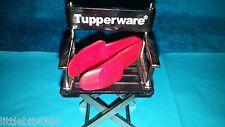 VINTAGE TUPPERWARE RED MINI STRAWBERRY HULLER TOAST TONGS / TWEEZERS GADGET