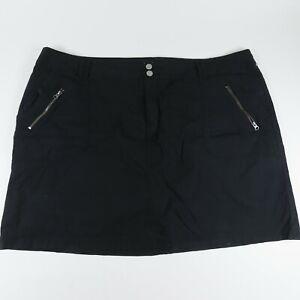 Lane Bryant Womens Flat Front Zipper Pockets Comfort Black Skorts Size 24