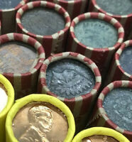 Indian Head on Vintage Wheat Penny Roll Sealed Great Rare Cent PDS 1909-1950