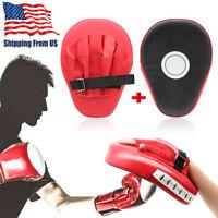 2 pcs MMA Focus Kick Boxing Punching Pad Mitt Hand Target Muay Glove Training