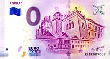 SLOVAQUIE Poprad, Monuments, 2018, Billet 0 € Souvenir