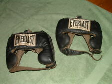 Vintage Everlast Boxing Sparring Headgear Leather Pair