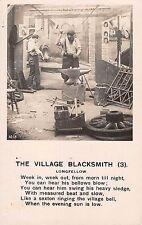 BR101381 the village blacksmith real photo longfellow  uk