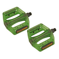 Green 9/16 Resin Wide Platform Fixie Road MTB Mountain BMX Bike Bicycle Pedals