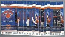 2016-17 NBA NEW YORK KNICKS COMPLETE UNUSED SEASON BASKETBALL TICKETS - 43 TIX