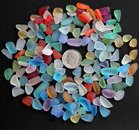 blue green red mixed sea beach glass small 150 piece lot bulk 8-12mm jewelry use
