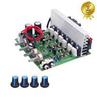 3-CH Subwoofer Amplifier Board 2.1 Amplifier Board 100W*2 + 120W*1 Fan Cooling
