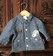 Snoopy Jean Jacket Size 6-9 Months Baby Metal Buttons