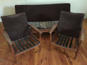 Vintage Mid-Century Sofa and 2 Chairs (Upcycle) Used