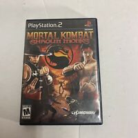 PlayStation 2 PS2 Complete Mortal Kombat: Shaolin Monks Complete CIB Free Ship