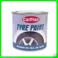 Car Plan 250ml Tyre Paint Black [TPT250] Tire Shine Paint Tin