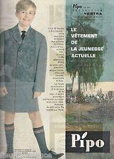 Publicité de Presse  vêtements enfants Pipo Bischwiller Original French Ad 1961
