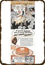 1944 AUNT JEMIMA Vintage Look Replica Metal Sign - YO' BLACK RACIST DIALECT