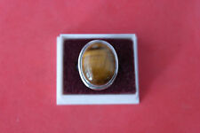 Beautiful 925 Silver Ring With Tiger's Eye Gemstone 7.8 Gr.2.5x2 Cm.Wide In Box