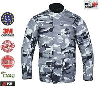 Camouflage Waterproof Motorcycle Touring Jacket Textile Long Armour Motorbike CE