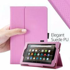 Amazon Fire 7 (7th GEN 2017) Tablet Case Poetic ® con cierre magnético de cuero con soporte tapa rosa